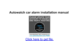 autowatch car alarm installation manual google docs
