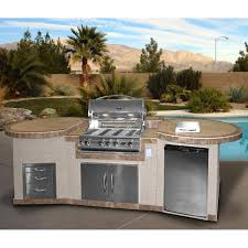Patio Bbq Island by Cal Flame 3 Piece Bbq Island With 32 Inch Cal Flame Natural Gas