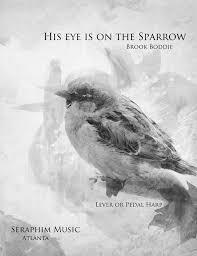 his eye is on the sparrow harp column