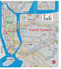 Subway Nyc Map Terramaps Nyc Manhattan Street And Subway Map Waterproof Ar