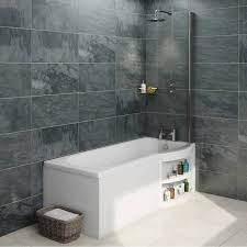 orchard myspace water saving right handed p shaped shower bath
