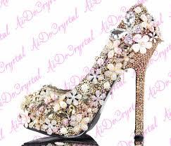 Light Pink Wedding Shoes Light Pink Peacock Decoration Bridal Wedding Shoes 12cm High Heel