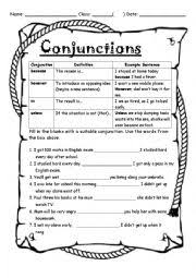 conjunctions unless therefore however because