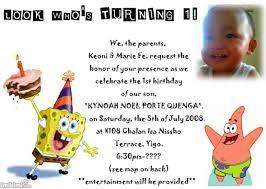 1st birthday invitation example imikimi com