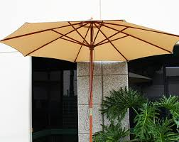 12 Foot Patio Umbrella Deluxe 12 Ft Outdoor Patio Market Wooden Wood Umbrella Yard
