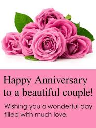 beautiful marriage wishes to a beautiful happy anniversary card chacha and chachi