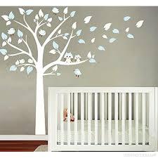 chambre bébé arbre bdecoll stickers muraux grand arbre mignonne hiboux stickers chambre