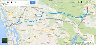 Distance Map Kerala Distance Map Sliptotrip