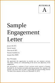 10 sample business valuation engagement letter audit letters