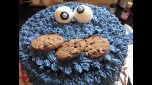 cookie monster birthday cake youtube