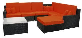 Northlight  Piece Resin Wicker Outdoor Furniture Sectional Sofa - Outdoor furniture sectional