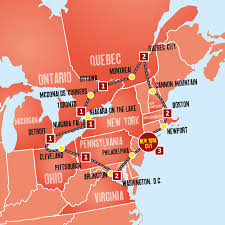 map of eastern usa and canada eastern usa canada coach tours new york holidays expat