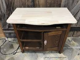 Build A End Table by How To Build A New Table Top For Old Furniture By Just The Woods