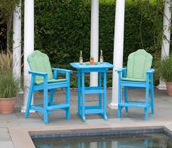 Recycled Patio Furniture Patio Furniture Bar Height Chairs Adirondack American Recycled