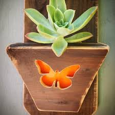 wood wall planter succulent planter hanging planter vertical
