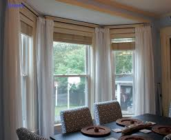 Window Drapes Charming Bay Window Drapes Pictures Pics Decoration Inspiration