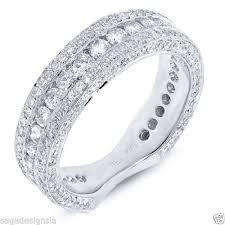 womens gold wedding bands womens 18k white gold diamond flat shank wedding band