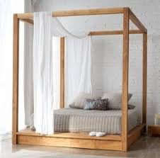 Bed Frame With Canopy Four Post Canopy Bed Frame Foter