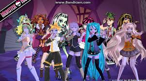 vocaloid halloween monster party night mmd vocaloid monster high youtube