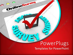 templates powerpoint crystalgraphics powerpoint template the online survey and the check mark to gather