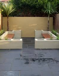 Slate Patio Designs Lovely Small Tropical Garden With Slate Paving Stepping Stones
