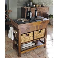 meuble de cuisine maison du monde billot en bois luberon de sheesham massif et ardoise l 95 cm prix