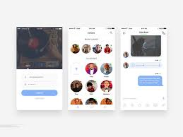 ios chat application screen ui free psd download download psd