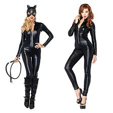 Disco Ball Halloween Costume Discoball Catwoman Jumpsuit Pu Leather Catwoman Costume Fancy