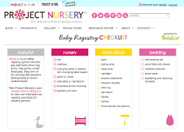 stores with baby registry project nursery partners with babylist online registry