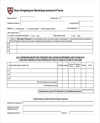 employee reimbursement form reimbursement form template 9 free