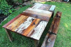 reclaimed wood outdoor table reclaimed wood outdoor furniture reclaimed wood garden furniture