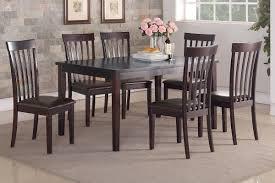 casual dining chairs poundex associates item f2270 7 pcs dining table set u003cbr u003e
