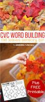 cvc word building fall sensory bin thanksgiving cvc words