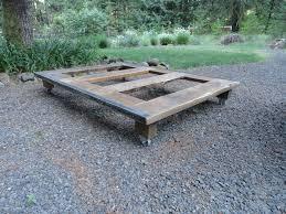 pallet platform bed reclaimed wood platform bed base pallet
