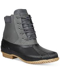 Duck Boots Mens Fashion Tommy Hilfiger Charlie Duck Boots In Gray For Men Lyst