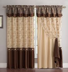 Burgundy Curtains With Valance Fancy Collection Embroidery Curtain Set 1 Panel Drapes