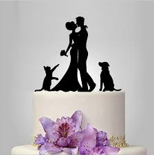 wedding cake topper with dog wedding cake topper with dog and cat silhouette wedding cake