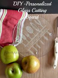 personalized glass cutting board personalized glass cutting board diy a thrifty recipes