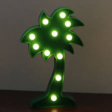 decorative led lights for home 2018 home decoration coconut tree shape decoration led night light