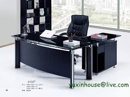 business office desk furniture tempered glass office desk boss desk table commercial office