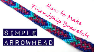 make friendship bracelet easy images How to make friendship bracelets simple arrowhead jpg