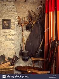 old country tools rustic style room corner interior decoration