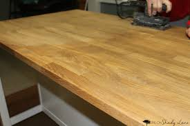 how to repair a stained butcher block island life on shady lane how to repair and refinish a stained butcher block kitchen island