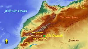 Atlas Mountains Map Tracce Signs Of Infinity At Aït Ouazik Southern Morocco