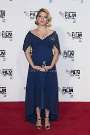 léa seydoux sequin navy blue v neck maternity hi lo red carpet