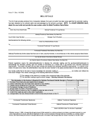 printable vehicle bill of sale georgia motor vehicle bill of sale form templates fillable