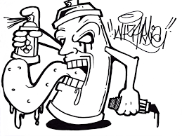 how to draw a graffiti spray can como dibujar una lata de