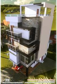 3 floor contemporary narrow home design house design plans small plot narrow house design