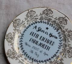 keepsake plate new baby boy personalised vintage china keepsake plate by ollie
