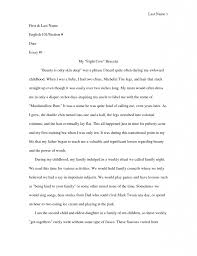 Examples Of Interior Monologue Narrative Essay With Dialogue Example Awesome Collection Of